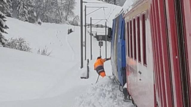 Haufenweise Schnee in den Alpen