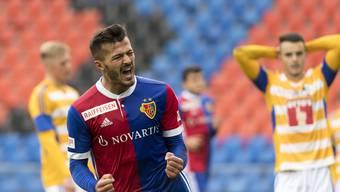 Die Hälfte der Spieler, die in der Hinrunde für den FCB zum Einsatz kamen, konnten ihren Marktwert steigern. Auch Albian Ajeti.