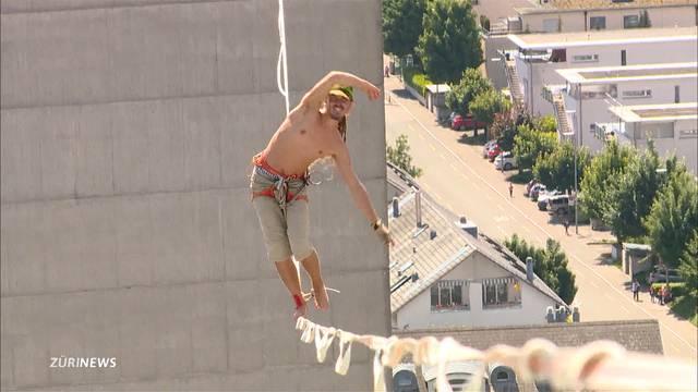 Balancieren in 70 Meter Höhe: Wer bricht den «Highline» Rekord?