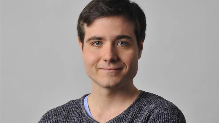 Der 21-jährige Noah Zurfluh will für die Jungsozialisten nach Bern. zvg