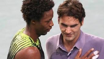 Federer bei seiner jüngsten Niederlage gegen Monfils in Paris.