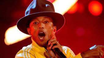 """Auch bei """"Wetten dass...?"""" trug Pharrell Williams den Hut (Archiv)"""