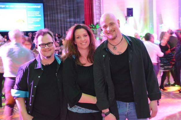 Oliver Jucker (links), Sabine Anderhub und Däni Anderhub