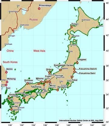 Japanische Atomkraftwerke