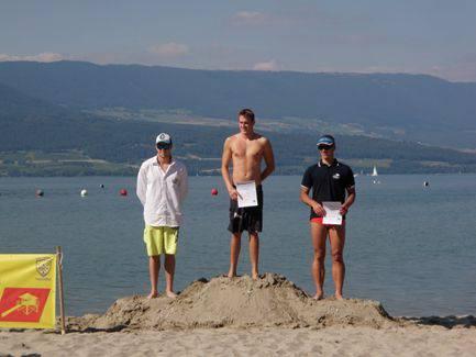 Siegerpodest Lakeman Herren (v.l. Manuel Zöllig Baden-Brugg, Kevin Schuler Innerschwyz, Michael Illinger Colmar).