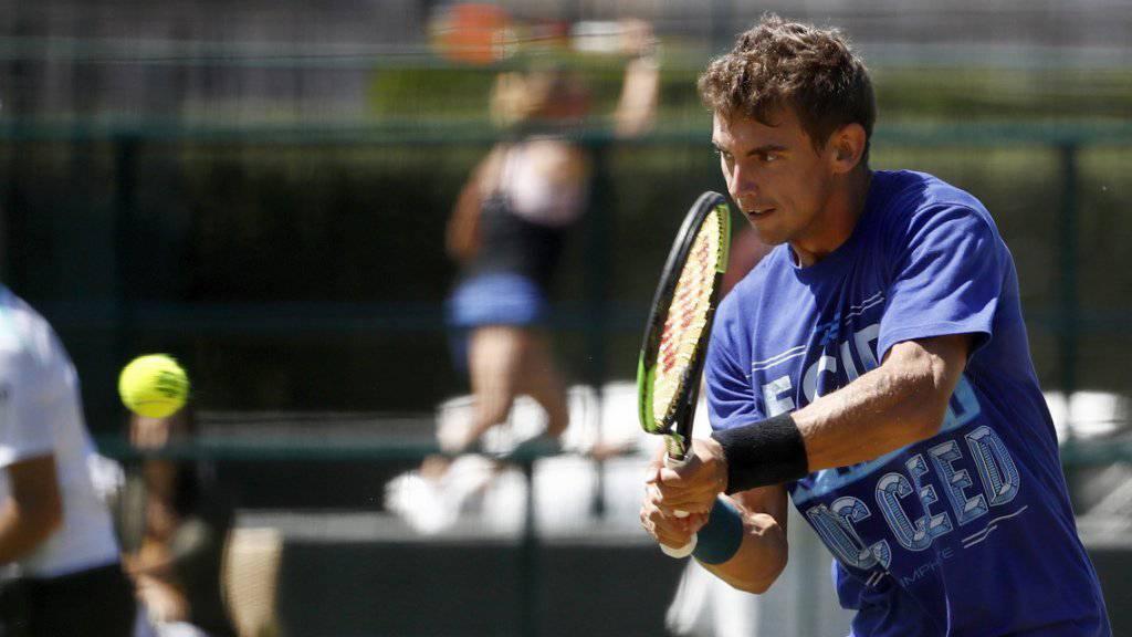 Henri Laaksonen kam in Wimbledon zu seinem Debüt in einem Hauptfeld eines Grand-Slam-Turniers