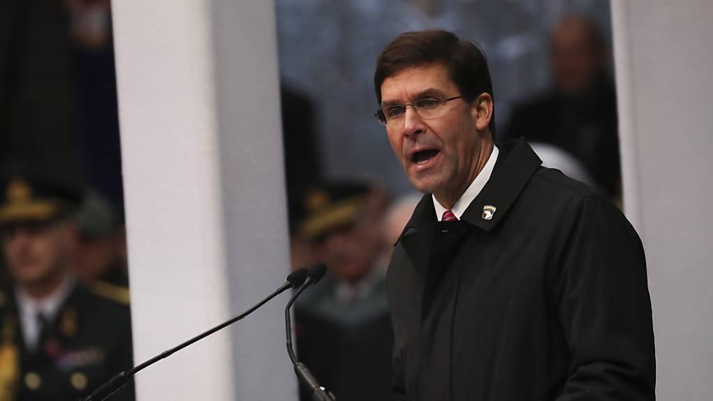 US-Verteidigungsminister Mark Esper fordert vom Irak einen besseren Schutz der amerikanischen Einrichtungen. (Archivbild)