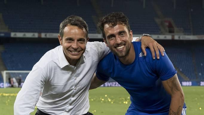Viel mehr als Präsident und Spieler: Bernhard Heusler und Matías Delgado sind Freunde geworden.