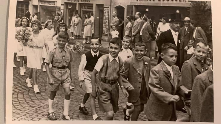 Bild vom Jugendfest Lenzburg 1951.