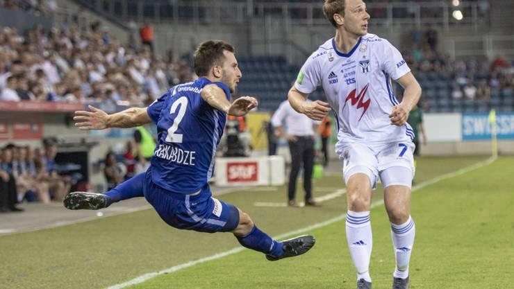 Otar Kakabadse und der FC Luzern taten sich im Hinspiel gegen KI Klaksvik  von den Färöern schwer und siegten erst dank eines Treffers in der Nachspielzeit 1:0