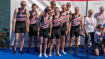 Erfolgreiche Athleten des Ruderclub Baden an den Schweizer Meisterschaften in Luzern-Rotsee.