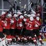 So jubelte die Schweiz vor einem Jahr nach dem Halbfinal-Erfolg über Kanada in Kopenhagen