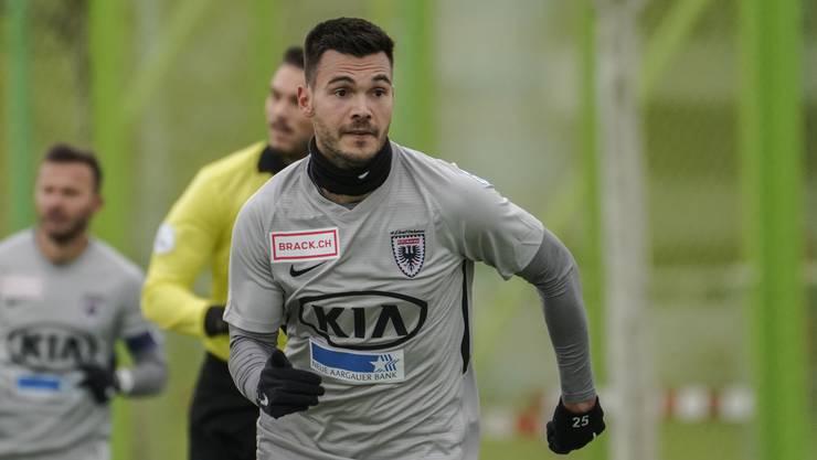 Stürmer Goran Karanovic und der FCA verlieren auch das zweite Testspiel der Wintervorbereitung