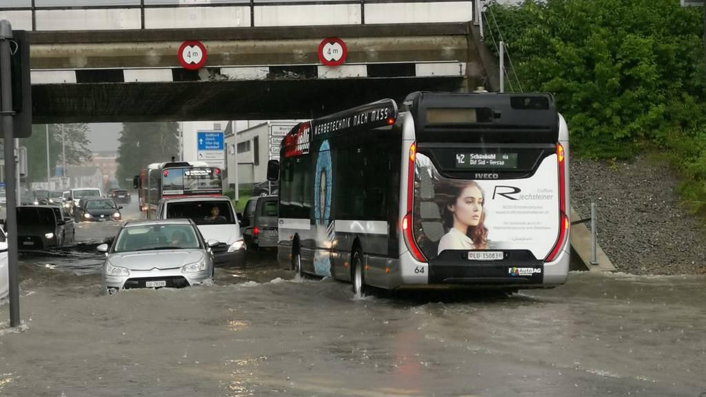 Unwetter in der Zentralschweiz