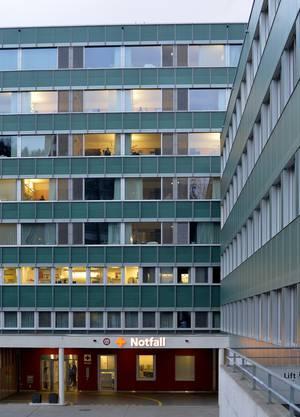 Der Eingang zur Notfallstation des Oltner Spitals.