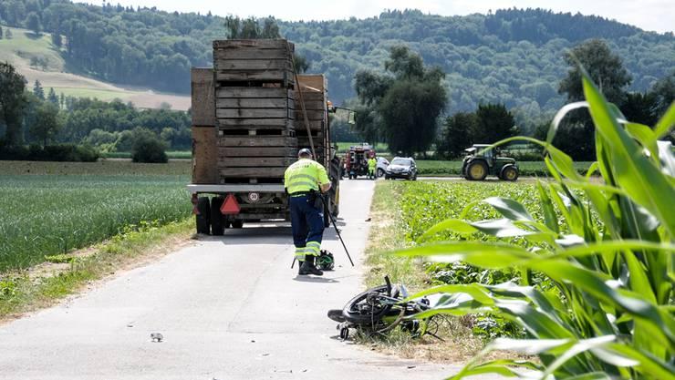 An dieser Stelle bei Waldhäusern im Freiamt hat sich der Unfall ereignet – Opfer und Traktorfahrer waren beide minderjährig.