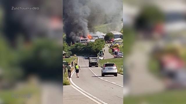 Bigenthal: 4 Personen bei Brand verletzt