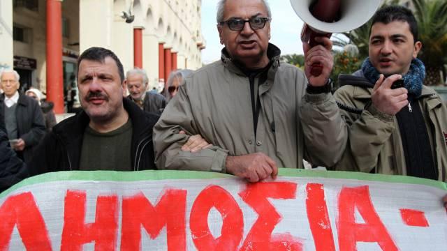 Menschen mit Behinderungen protestieren in Thessaloniki