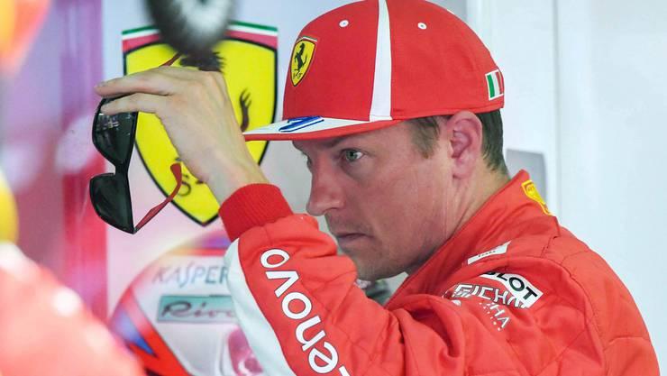 Kimi Räikkönen: Erst weicht er aus, dann knirscht es.
