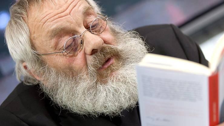 """Ein gutes Jahr nach Harry Rowohlts Tod erscheint von ihm der Band """"Und tschüs. Nicht weggeschmissene Briefe"""". (Archivbild)"""