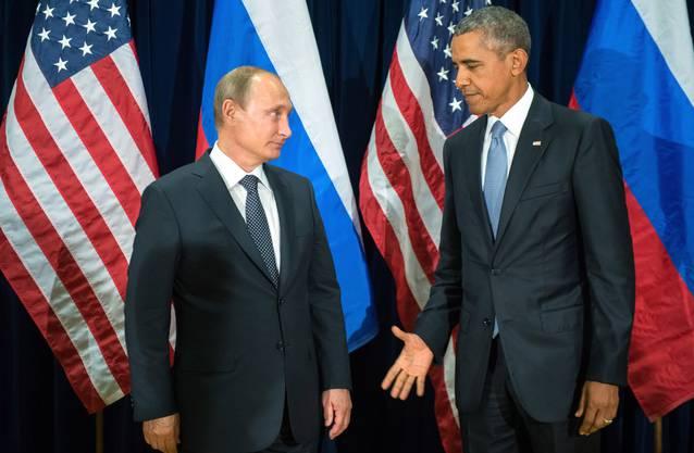 Freundschaft sieht anders aus: Obama und Putin