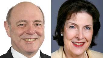 Ueli Giezendanner (SVP) und Christine Egerszegi (FDP) kämpfen um den zweiten Ständeratssitz.