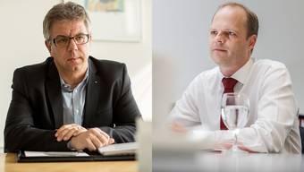 """Andreas Gasche und Daniel Probst sagen """"Ja, aber. . ."""" zur Steuervorlage."""