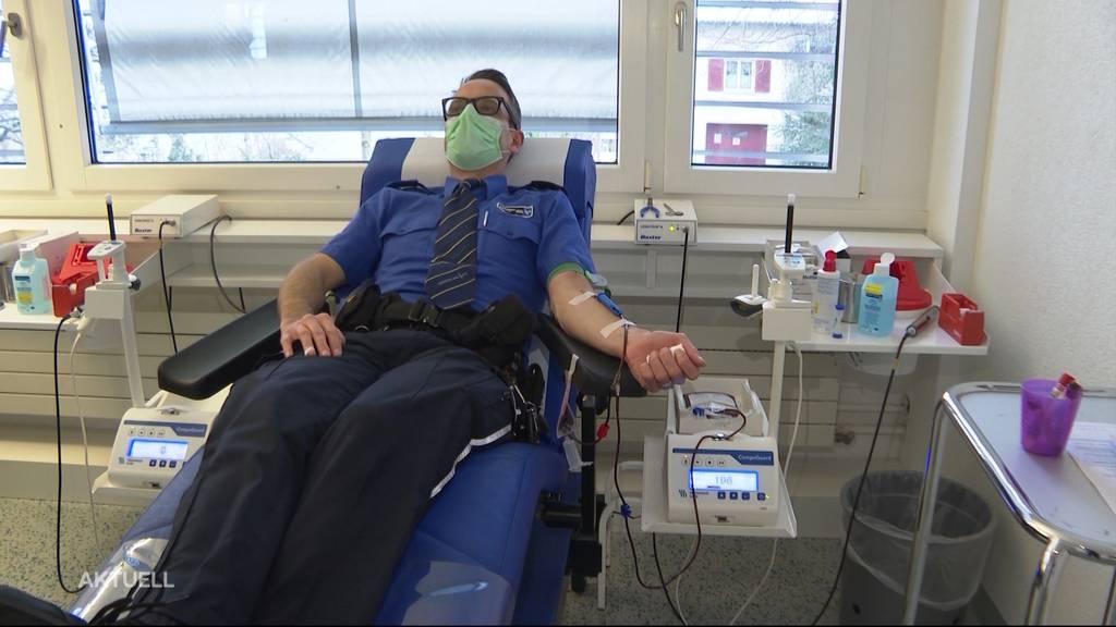 Kapo Aargau lanciert Blutspende-Challenge