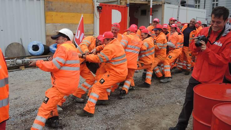 In den nächsten Wochen und Monaten wollen die Bauarbeiter von verschiedenen Firmen an einem Strick ziehen