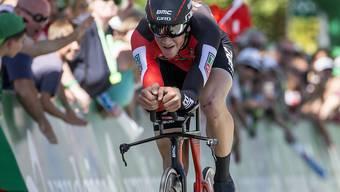 Stefan Küng - hier beim Zeitfahren an der Tour de Suisse in Schaffhausen - sicherte sich seinen ersten Meisteritel im Kampf gegen die Uhr