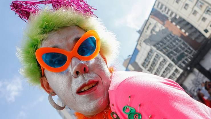 Für mehr Respekt: Teilnehmer der farbenfrohen Gay-Pride-Parade in São Paulo