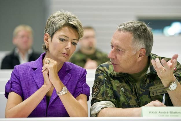 ... oder mit dem damaligen Chef der Armee, André Blattmann.