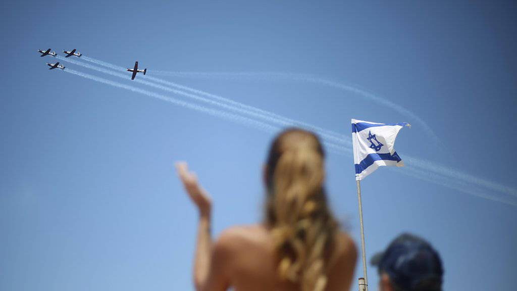 Israel feiert 70. Unabhängigkeitstag mit Flugschau