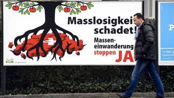 Es wird knapp: Ja-Plakat zur Masseneinwanderungs-Initiative