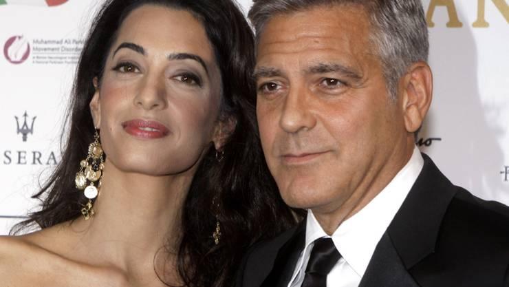 Vor vier Jahren brachte George Clooney bei einer Spendengala für Barack Obama 15 Millionen Dollar zusammen. Mit Amal an seiner Seite könnten es am Samstag für Hillary Clinton noch mehr werden. (Archivbild)