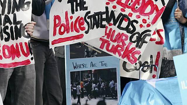 Protestierende in Melbourne (Archiv)