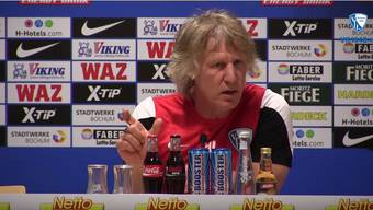 Pressekonferenz vor der Partie DSC Arminia Bielefeld - VfL Bochum 1848 – ab Minute 4:03 wirds heiss.