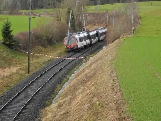 Zugentgleisung in Lommiswil infolge eines Erdrutsches