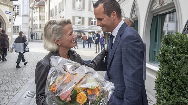 Andrea Gmür dürfte künftig zusammen mit dem bereits wiedergewählten Ständerat Damian Müller für Luzern in der kleinen Kammer politisieren.