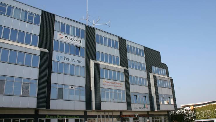 Im obersten Geschoss findet sich der Hauptsitz der Wavecom