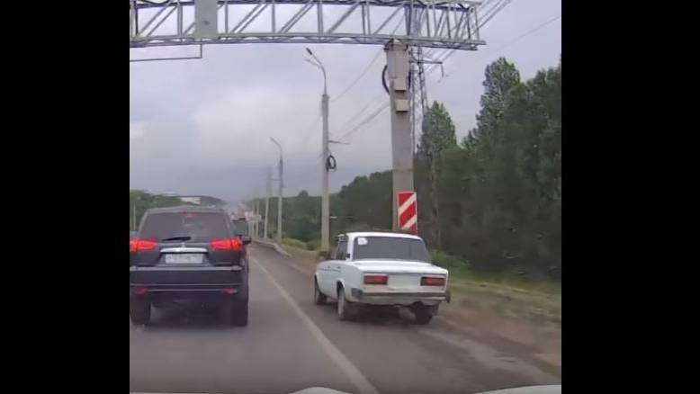 Da lachen sich die staugeplagten Autofahrer ins Fäustchen ...