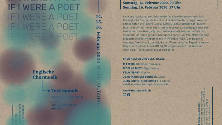 "Chor Kultur und Volk Basel: ""If I were a poet"""