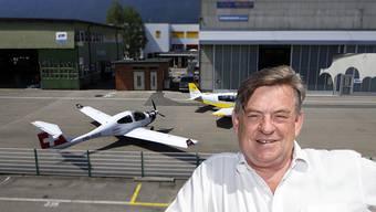 Conrad Stampfli ist Anwalt und Verwaltungsrat des Flughafens Grenchen. Er hat das Projekt Pistenverlängerung gegenüber der Öffentlichkeit vertreten.