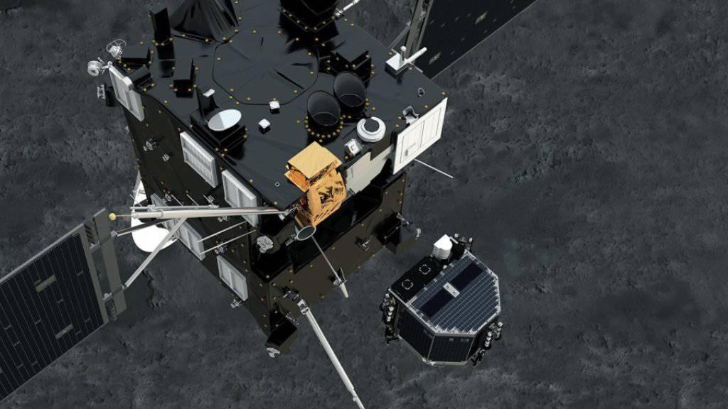 Im November 2014 löste sich Philae von seiner Muttersonde, um auf dem Kometen Tschuri zu landen. (Archivbild)