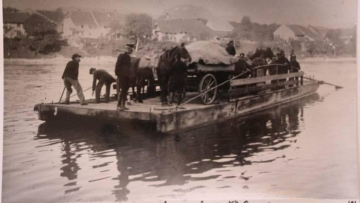 Historische Aufnahme Das Wagenschiff in Aktion