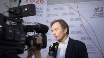Jean-Philippe Rochat, Präsident des Komitees Sion 2026, will die Olympischen Spiele in die Schweiz holen.