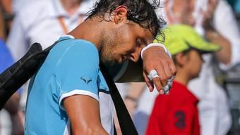 Angeschlagen: Rafael Nadal setzt die Hitze in Miami zu