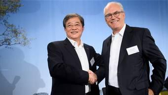 Haben sich auseinandergelebt: Chemchina-Chef Ren Jianxin mit dem damaligen Syngenta-Verwaltungsrat Michel Demaré.