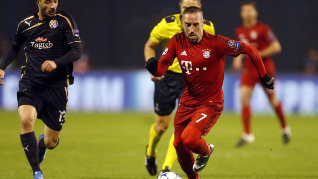 Franck Ribéry musste im Champions-League-Spiel in Zagreb vorzeitig ausgewechselt werden