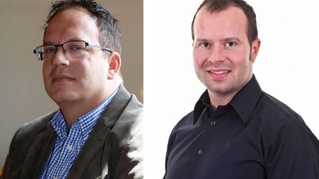Johannes Sutter (links) und Daniel Ballmer duellieren sich um das Arboldswiler Gemeindepräsidium.
